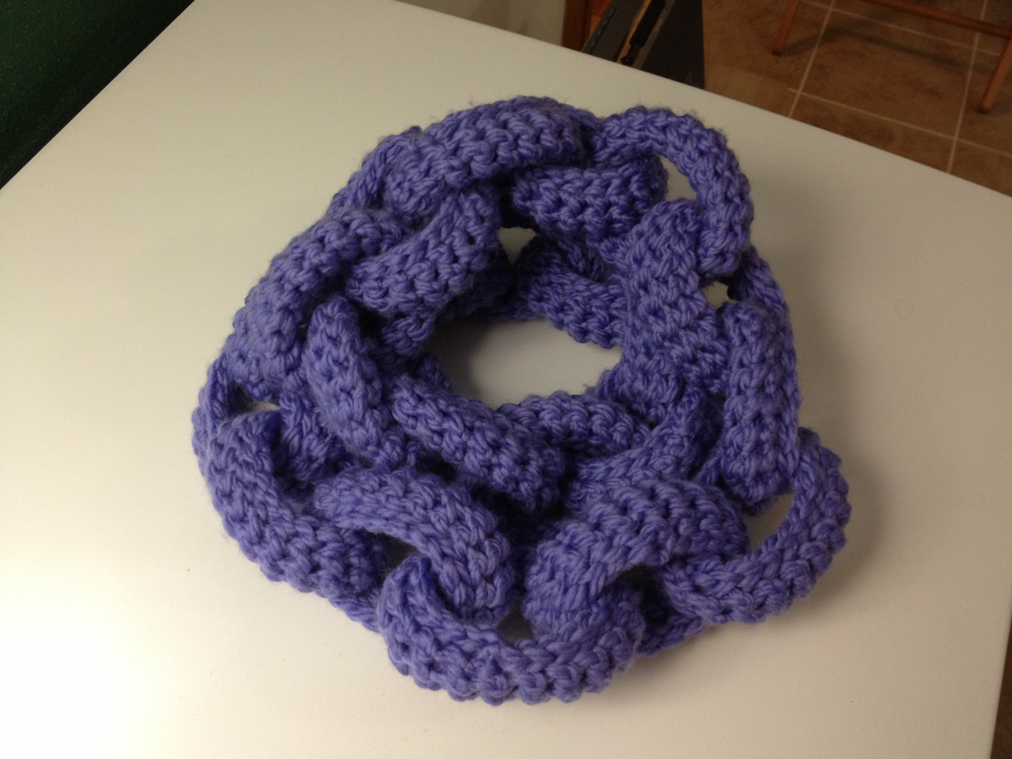 Chain Link Scarf from Knits for Life - TheBrainInJane